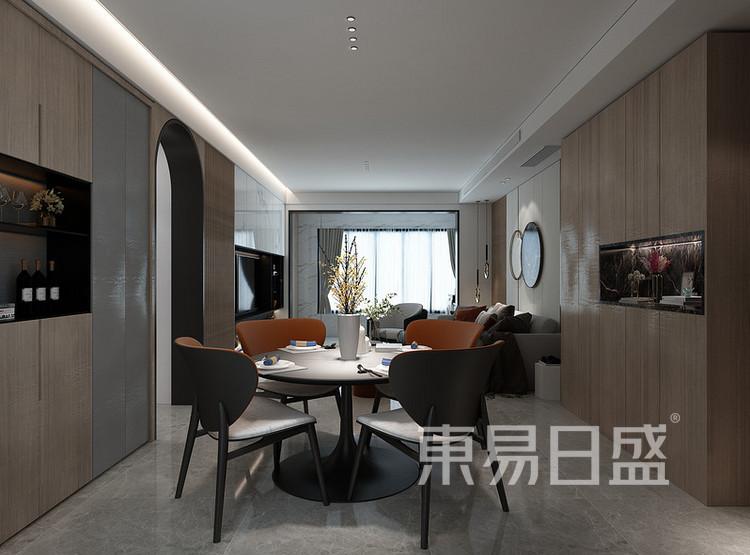 安亭新镇125平三居室现代简约装修设计案例——餐厅