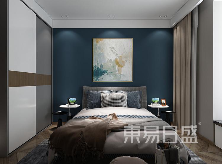 安亭新镇125平三居室现代简约装修设计案例——卧室