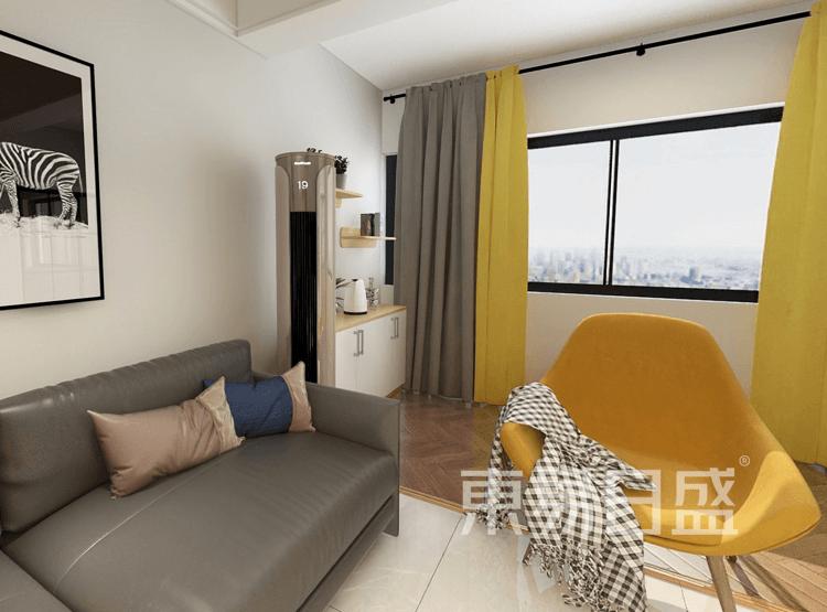 现代简约风格客厅装修也结合了一点北欧的风格的家具