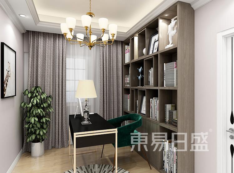 龙湖·九里晴川-现代轻奢-书房装修效果图