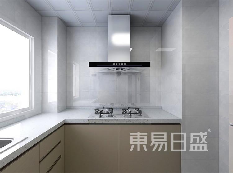 厨房装修效果图 - 现代轻奢装修效果图 - 西安装修设计公司