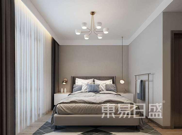 卧室装修效果图2 - 新中式风格装修效果图 - 西安装修设计公司