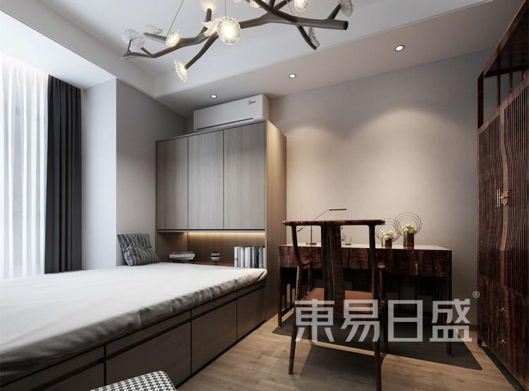 卧室装修效果图 - 新中式风格装修效果图 - 西安装修设计公司