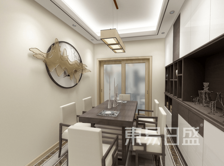 餐厅装修效果图 - 新中式风格装修效果图 - 西安室内设计