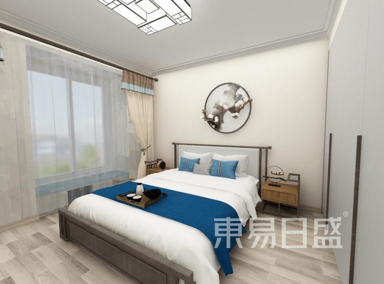 卧室装修效果图 - 新中式风格装修效果图 - 西安室内设计