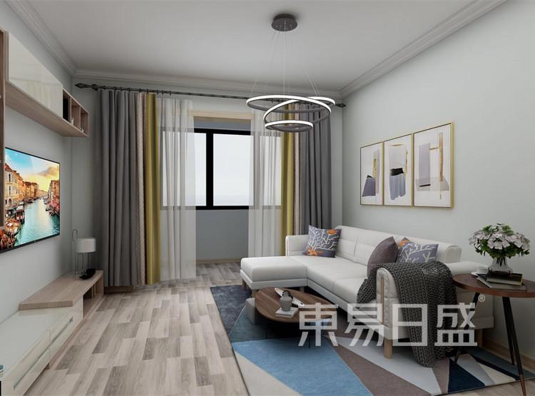 客厅装修效果图 - 北欧风格装修效果图 - 西安两居室装修
