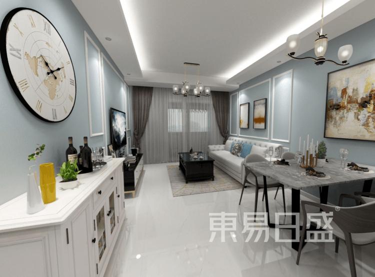 客厅装修效果图 - 现代简美风格装修效果图 - 西安装饰公司