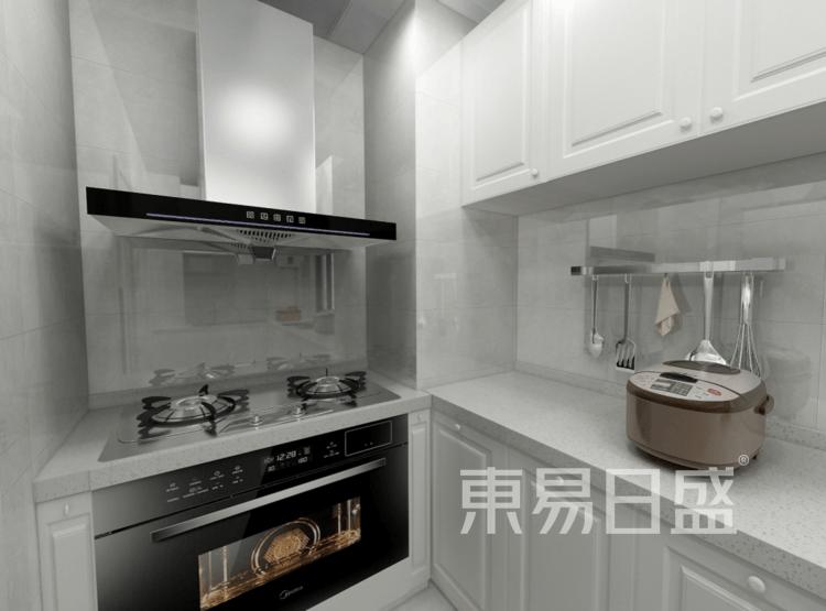 厨房装修效果图 - 现代简美风格装修效果图 - 西安装饰公司