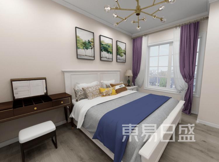 卧室装修效果图 - 现代简美风格装修效果图 - 西安装饰公司