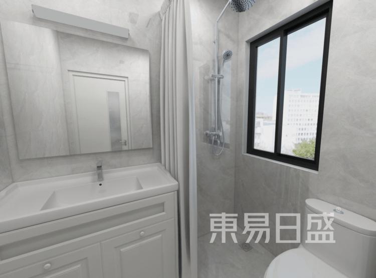 卫生间装修效果图 - 现代简美风格装修效果图 - 西安装饰公司