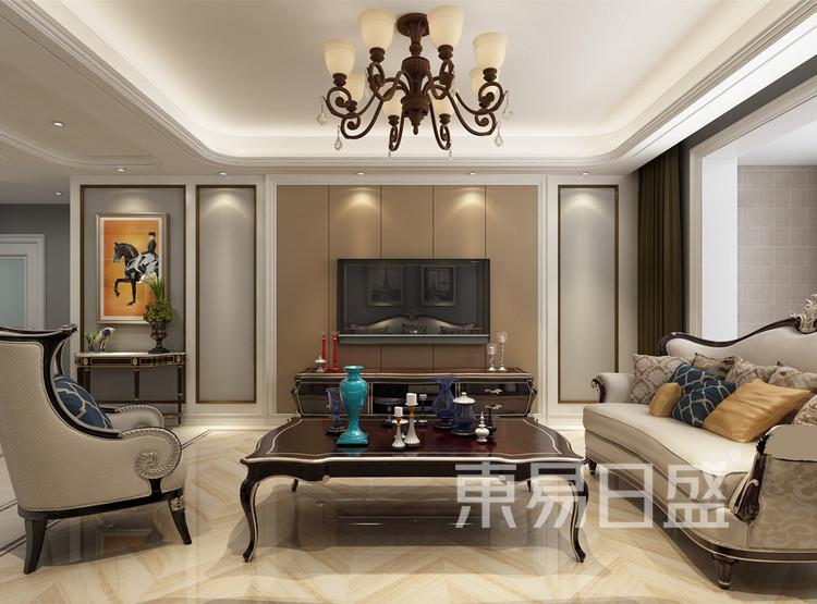 客厅装修效果图 - 新古典风格装修效果图 - 西安家装公司