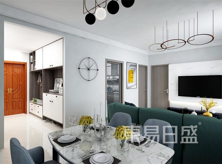 客厅装修效果图 - 现代简约风格装修效果图 - 西安家装公司