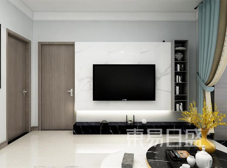 客厅装修效果图2 - 现代简约风格装修效果图 - 西安家装公司