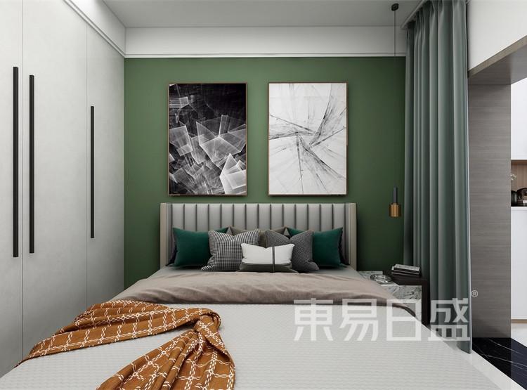 次卧装修效果图 - 现代简约风格装修效果图 - 西安家装公司