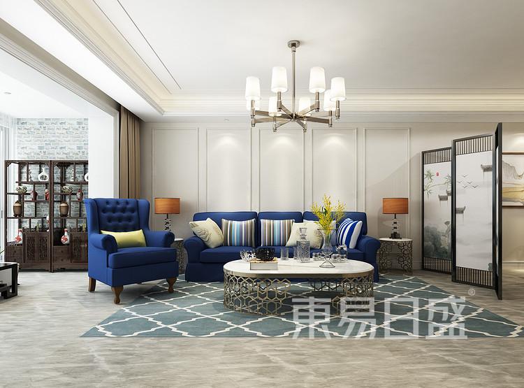 客厅装修效果图 - 混搭风格装修效果图 - 西安装潢公司