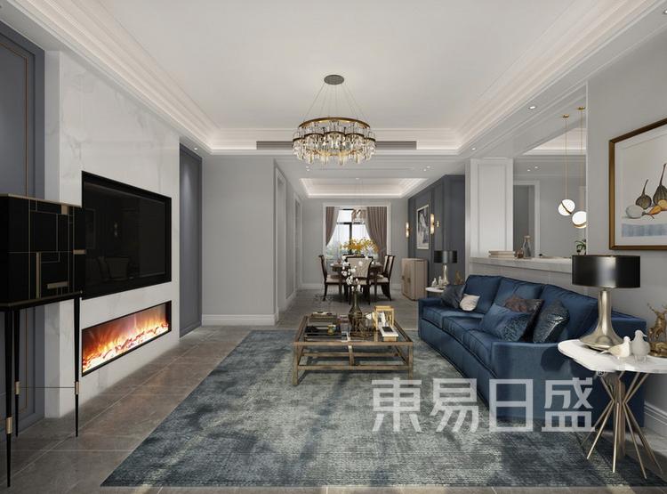 建发玖里湾简美风格装修效果图——客厅
