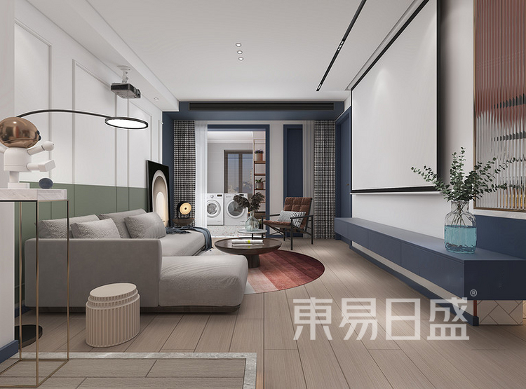 远洋太湖宸章现代简约装修效果图——客厅