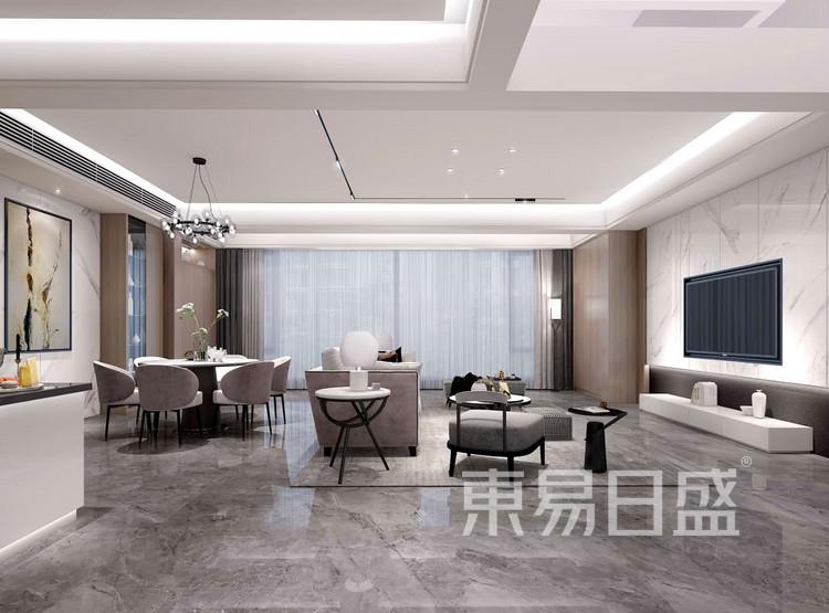 龙湖天宸原著212平客厅装修效果图