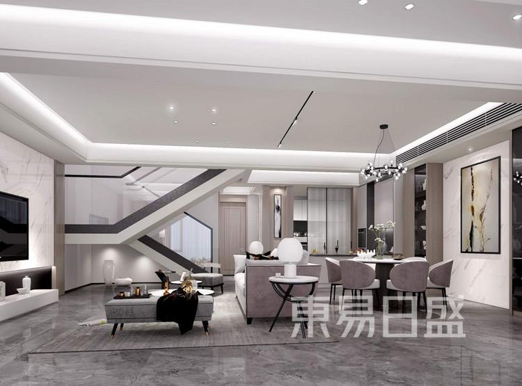 龙湖天宸原著212平餐厅装修效果图