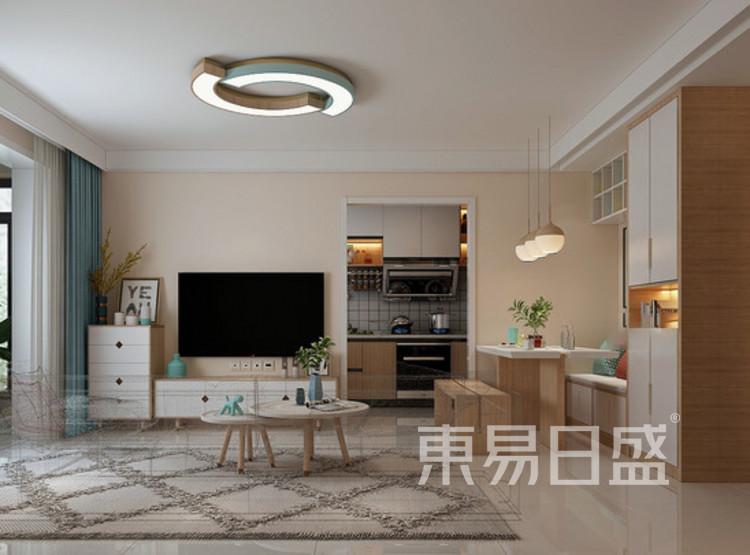远洋太湖宸张北欧风格装修效果图——客厅