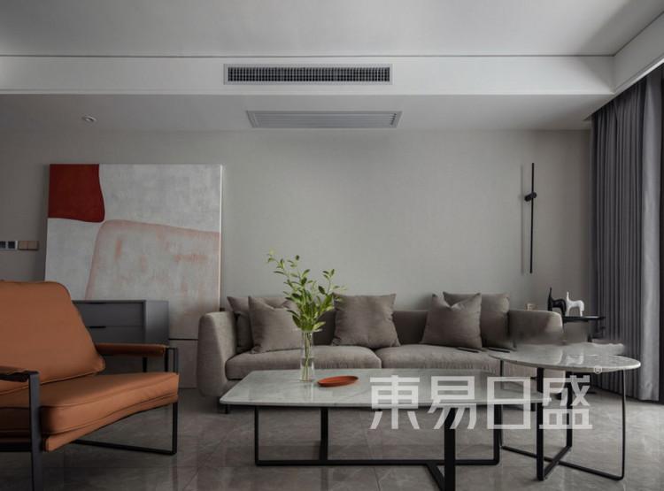 建发玖里湾现代简约装修效果图——客厅