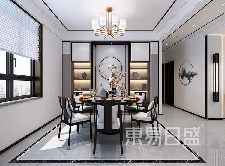 枫丹御园新中式风格装修效果图——餐厅