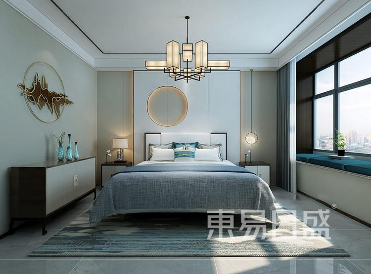 枫丹御园新中式风格装修效果图——卧室