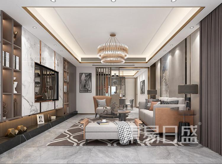 梁溪本源现代简约风格装修效果图——客厅