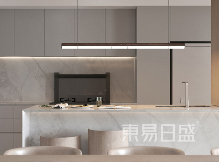 建发玖里湾新中式风格装修效果图——厨房