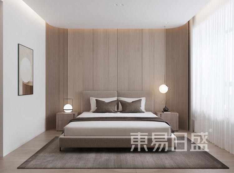 建发玖里湾新中式风格装修效果图——卧室