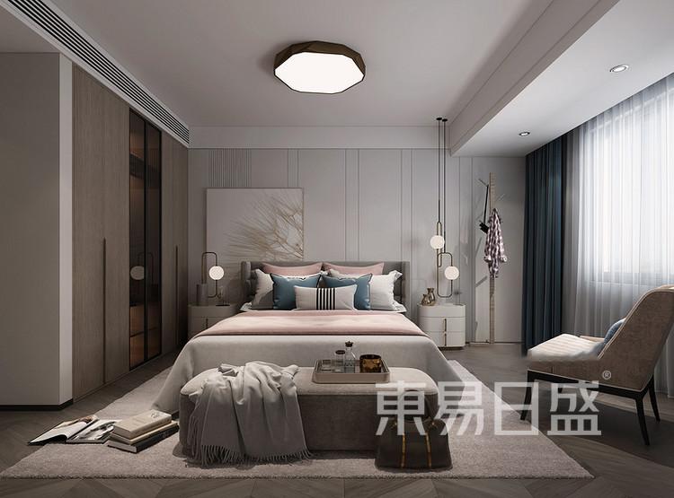 东方天郡现代简约风格装修效果图——卧室