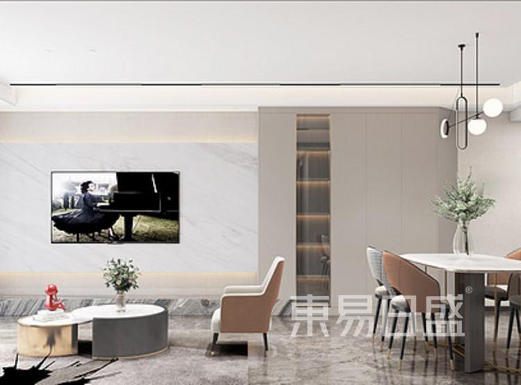 公园悦府现代简约风格装修效果图——客厅