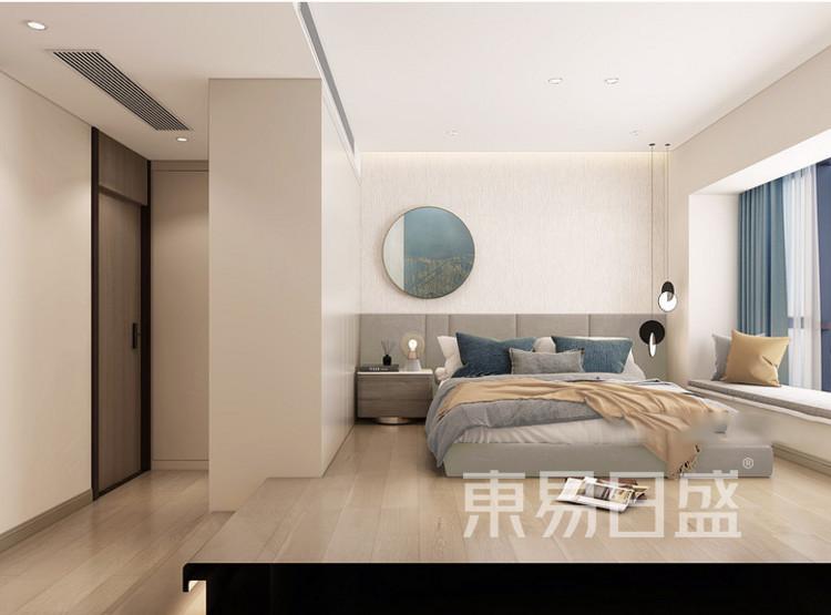 公园悦府现代简约风格装修效果图——卧室