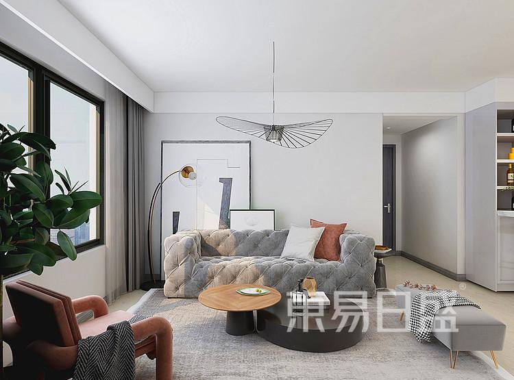 现代轻奢风格客厅装修设计