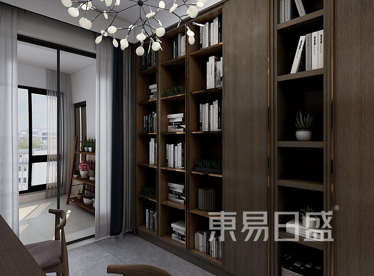 现代轻奢风格书房装修设计