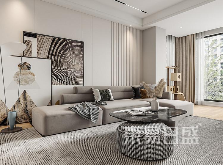 中海寰宇天下现代简约风格装修效果图——客厅