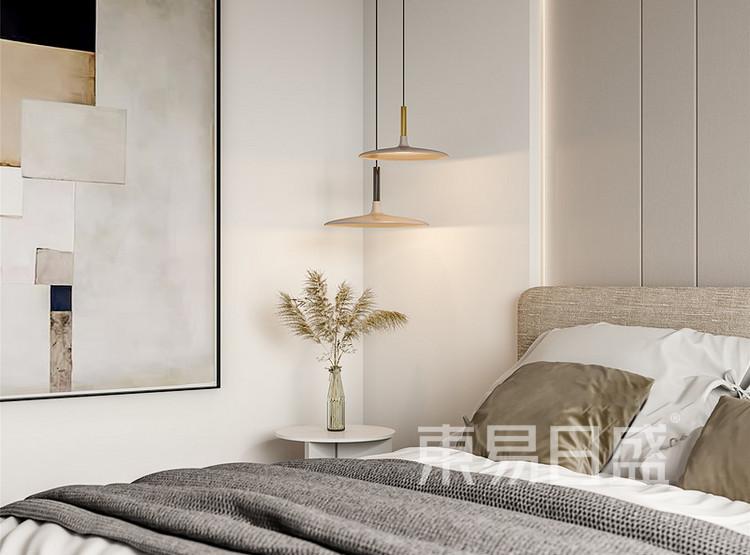 中海寰宇天下现代简约风格装修效果图——卧室