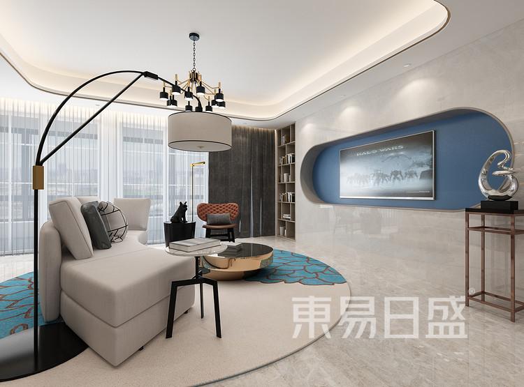 龙湖·景粼玖序 现代简约 客厅 装修效果图