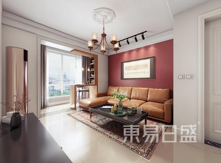 嘉邦小区90平二居室现代风格装修设计——客厅
