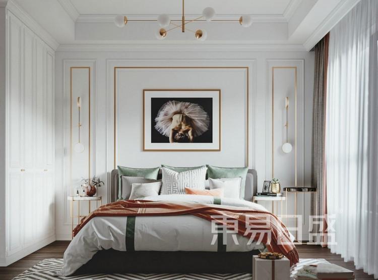 嘉邦小区90平二居室现代风格装修设计——卧室