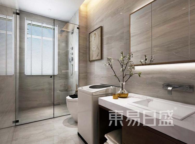 嘉邦小区120平三居室新中式风格装修设计——卫生间