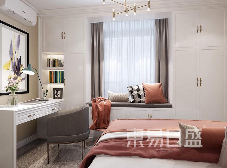 嘉邦小区100平三居室现代简约风格装修设计案例——卧室