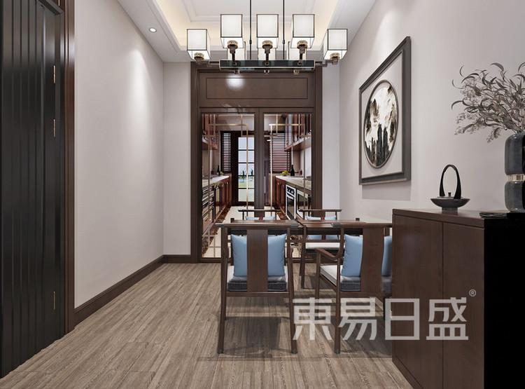 嘉邦小区92平新中式二居室装修设计案例——餐厅