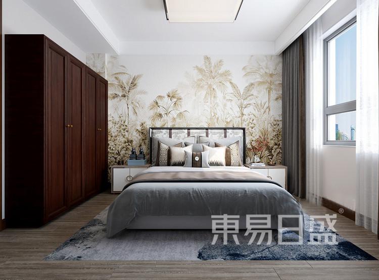 嘉邦小区92平新中式二居室装修设计案例——卧室
