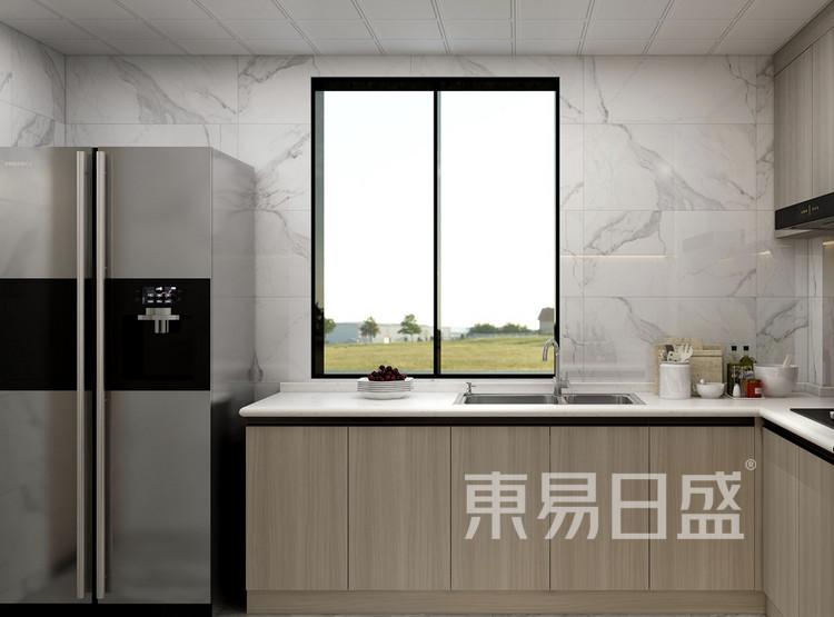 奥林匹克花园装修案例-现代中式风格-厨房装修效果图