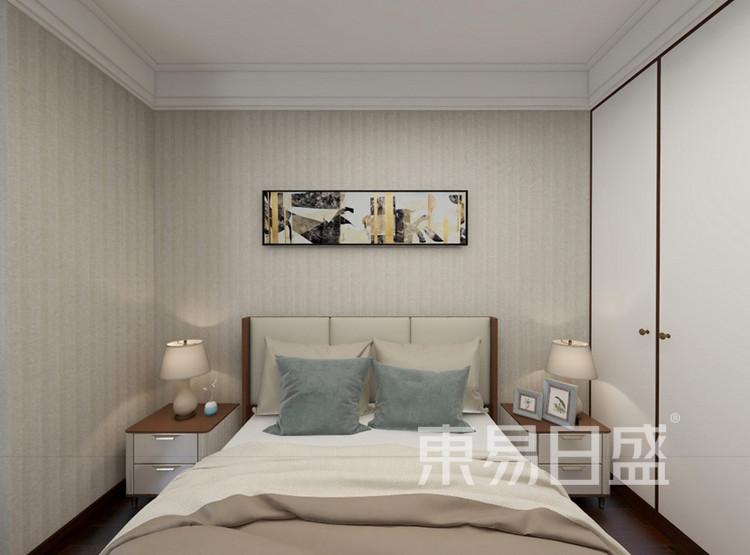 融创观澜壹号装修案例-新中式风格-卧室装修效果图