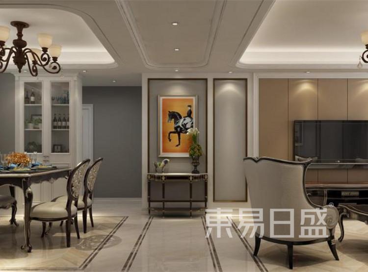 西安客厅装修 - 新古典风格装修效果图 - 西安装修公司