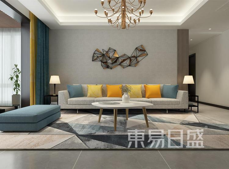 西安客厅装修 - 现代简约风格客厅 - 西安装修公司