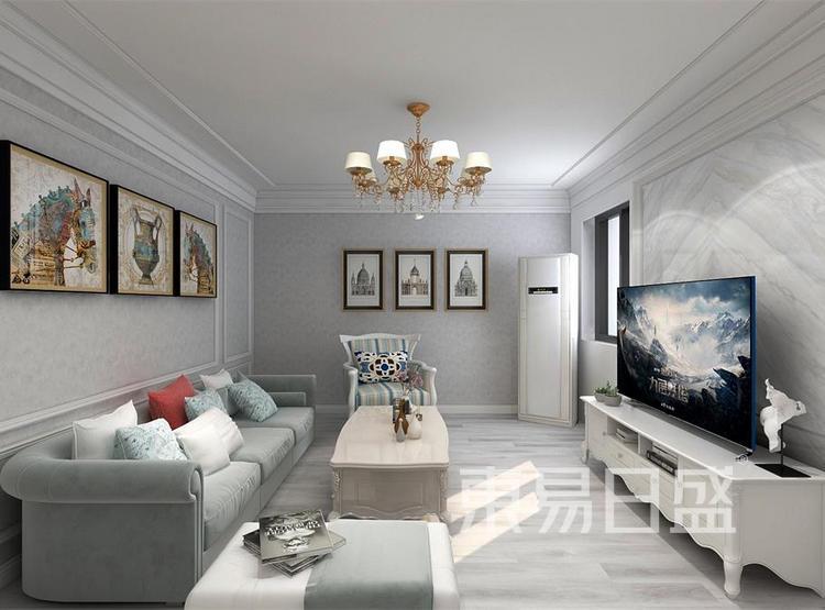 西安客厅装修 - 简欧风格装修效果图 - 西安装修公司