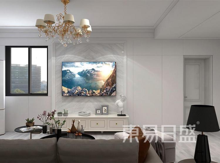 西安客厅装修2 - 简欧风格装修效果图 - 西安装修公司